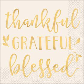Thankful, Grateful, Blessed Lunch Napkins