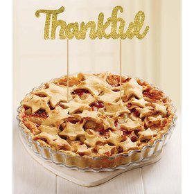 Thankful Pie and Cake Pick Topper