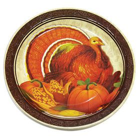 "Thanksgiving 7"" Plates (8)"