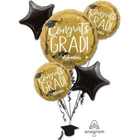 The Adventure Begins Grad Balloon Bouquet & Weight