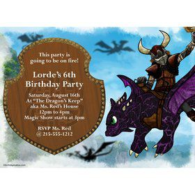 The Dragon Whisperer Personalized Invitation (Each)