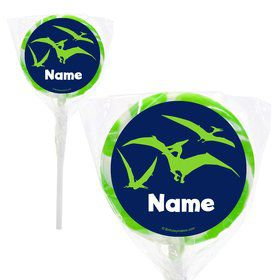 "The Friendly Dinosaur Personalized 2"" Lollipops (20 Pack)"