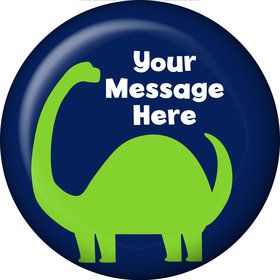 The Friendly Dinosaur Personalized Button (Each)