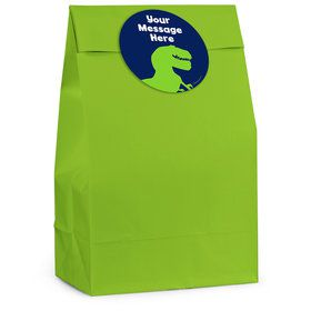 The Friendly Dinosaur Personalized Favor Bag (12 Pack)