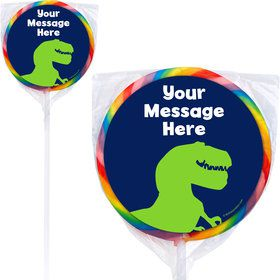 The Friendly Dinosaur Personalized Lollipops (12 Pack)