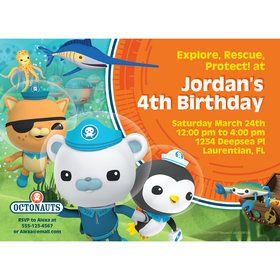 The Octonauts Personalized Invitation (Each)