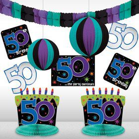 The Party Continues 50th Birthday Decorating Kit