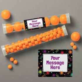 The Party Continues Personalized Candy Tubes (12 Count)