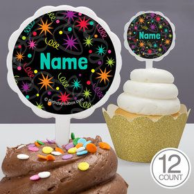 The Party Continues Personalized Cupcake Picks (12 Count)