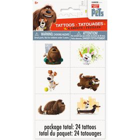 The Secret Life of Pets Tattoo Sheet (4 Count)
