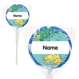 """The World Awaits Personalized 2"""" Lollipops (20 Pack)"""