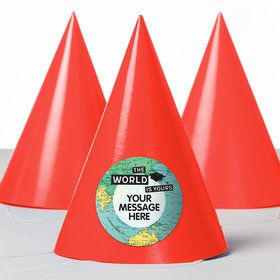 The World Awaits Personalized Party Hats (8 Count)