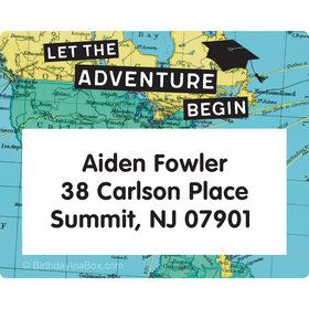 The World Awaits Personalized Rectangular Stickers (Sheet of 15)
