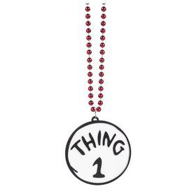 Thing 1 & 2 Reversible Bling Necklace