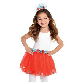 Thing 1 & 2 Tutu and Headband Set - Girl Small 4-6