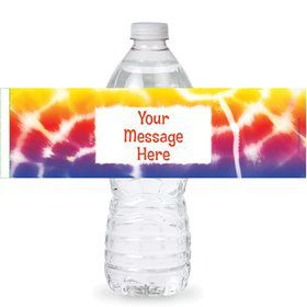 Tie Dye Fun Personalized Bottle Labels (Sheet of 4)