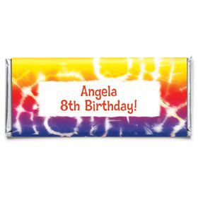 Tie Dye Fun Personalized Candy Bar Wrapper (Each)