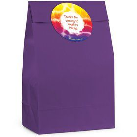 Tie Dye Fun Personalized Favor Bag (Set Of 12)