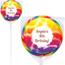 Tie Dye Fun Personalized Lollipops (pack of 12)