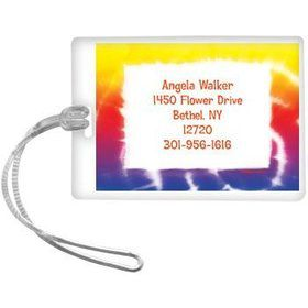 Tie Dye Fun Personalized Luggage Tag (each)