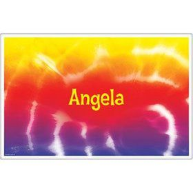 Tie Dye Fun Personalized Placemat (each)