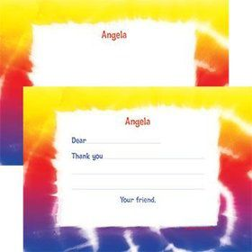 Tie Dye Fun Personalized Thank You Note (each)