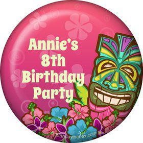 Tiki Party Personalized Button (each)