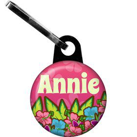 Tiki Party Personalized Mini Zipper Pull (each)