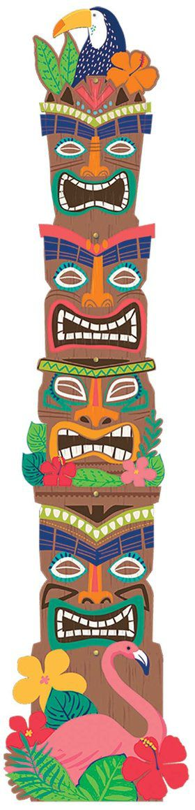 Tiki Totem Pole Jointed Cutout Decoration