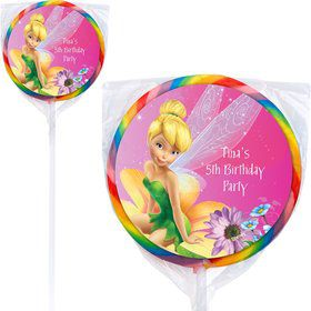 Tinkerbell Personalized Lollipops (12 Pack)