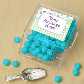 Tiny Bundle Blue Personalized Candy Bin with Candy Scoop (10 Count)