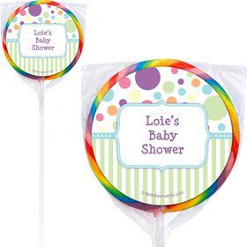 Tiny Bundle Blue Personalized Lollipops (12 Pack)