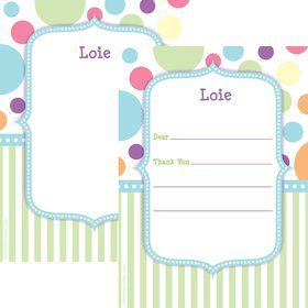 Tiny Bundle Blue Personalized Thank You (Each)