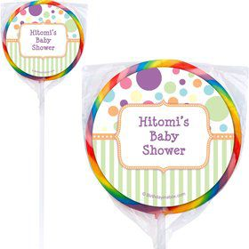 Tiny Bundle Neutral Personalized Lollipops (12 Pack)