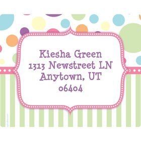 Tiny Bundle Pink Personalized Address Labels (Sheet of 15)