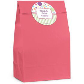 Tiny Bundle Pink Personalized Favor Bag (Set Of 12)