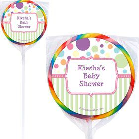 Tiny Bundle Pink Personalized Lollipops (12 Pack)