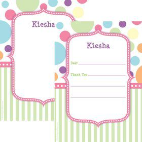 Tiny Bundle Pink Personalized Thank You (Each)