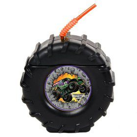 Tire Molded Cup with Monster Jam Stickers (8)