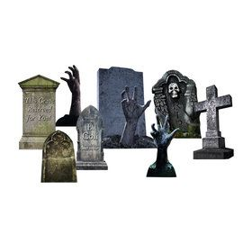 Tombstone Hands Set Outdoor Plastic Decorations