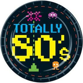 Totally 80's Luncheon Plates (8 Pack)