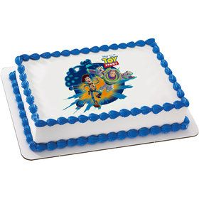 Toy Story Quarter Sheet Edible Cake Topper (Each)