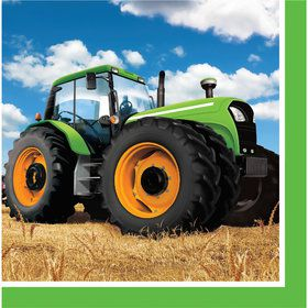 Tractor Time Lunch Napkins (16 Count)