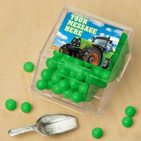 Tractor Time Personalized Candy Bin with Candy Scoop (10 Count)