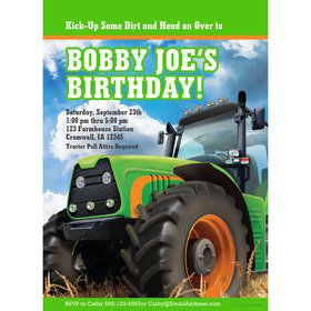 Tractor Time Personalized Invitation (Each)