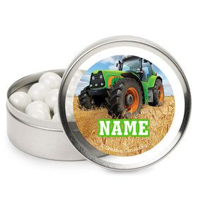 Tractor Time Personalized Mint Tins (12 Pack)
