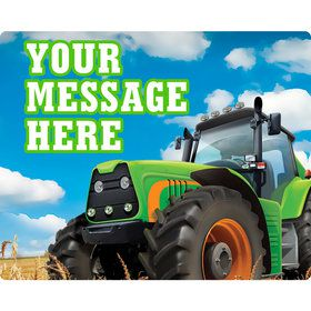 Tractor Time Personalized Rectangular Stickers (Sheet of 15)