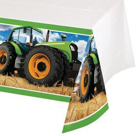 Tractor Time Plastic Tablecover