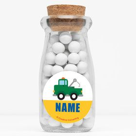 "Traffic Jam Personalized 4"" Glass Milk Jars (Set of 12)"