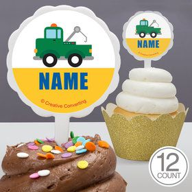 Traffic Jam Personalized Cupcake Picks (12 Count)